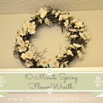 Easy 10 Minute Spring Flower Wreath