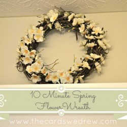 Quick and Easy Spring Flower Wreath