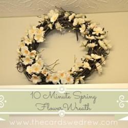 Easy 10 Minute Spring Flower Wreath
