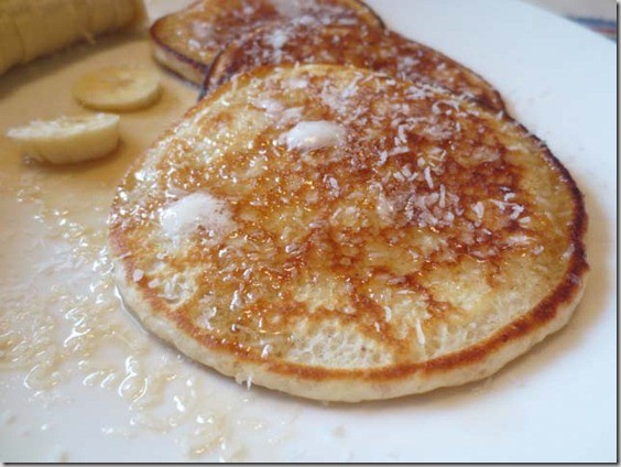 coconut buttermilk pancakes