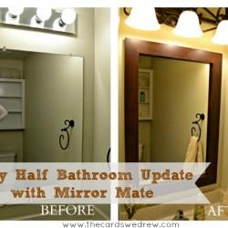 Half Bathroom Update and MirrorMate Giveaway!