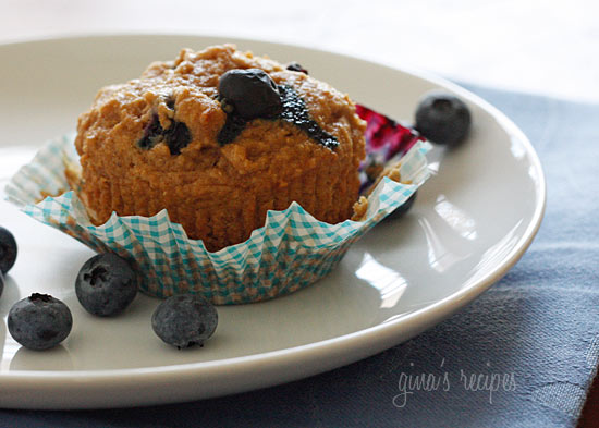 Low Fat Whole Wheat Blueberry Muffins 83