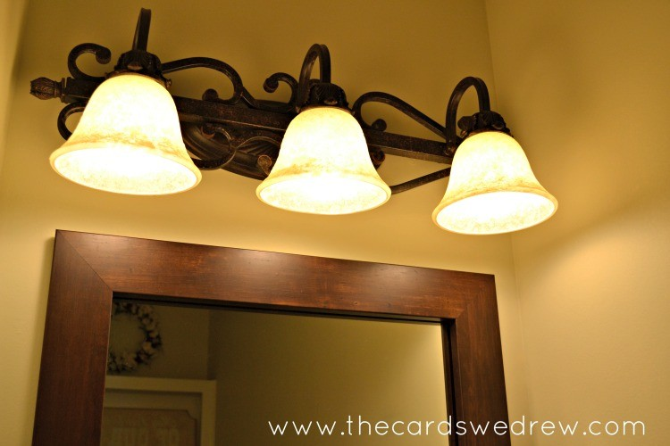 light fixture for bathroom half bathroom update and mirrormate giveaway the cards 19219