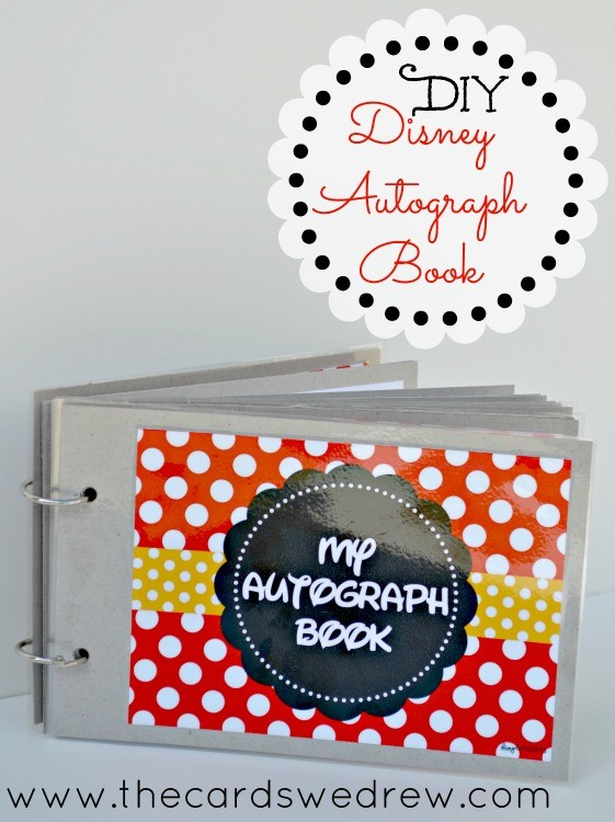 graphic about Printable Disney Autograph Book referred to as Do it yourself Disney Autograph E book + Free of charge Printable - The Playing cards We Drew