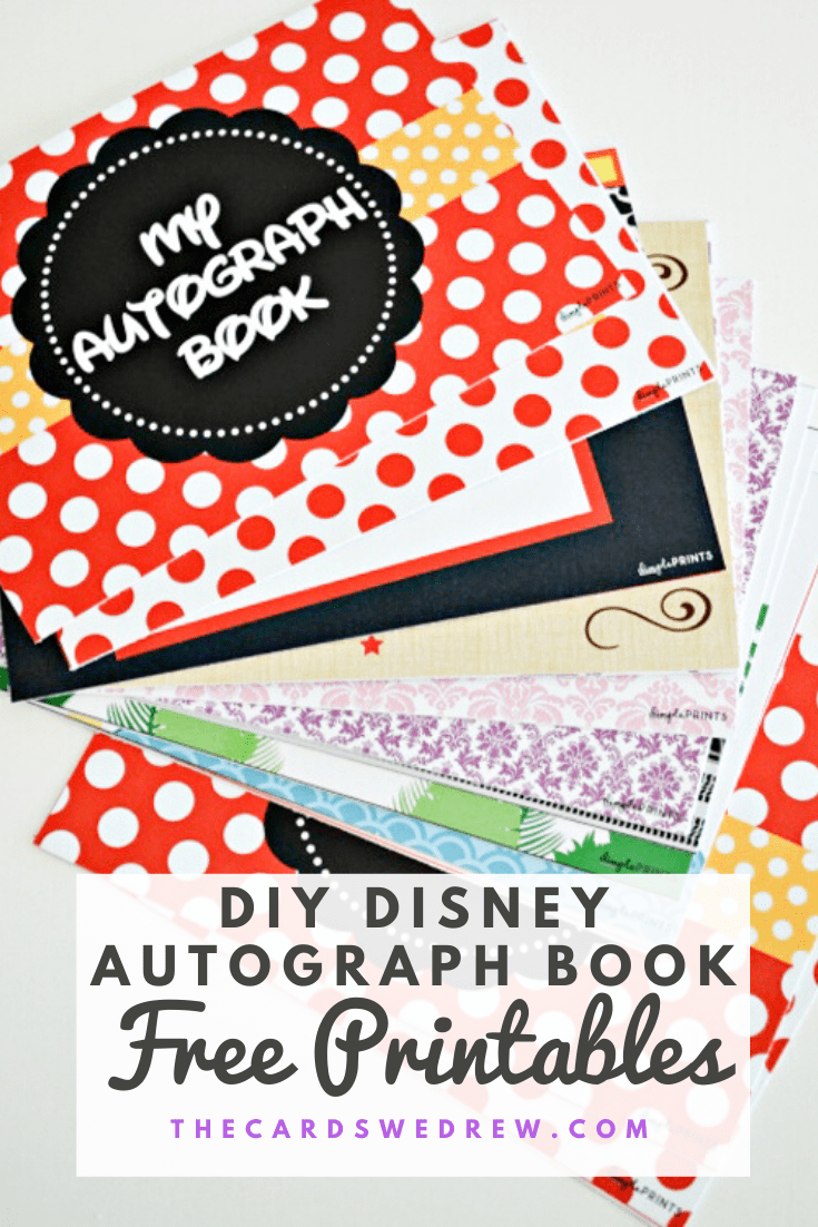 DIY Disney Autograph Book with Free Printables