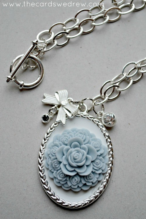 DIY Pendant Necklace with Bow Charm