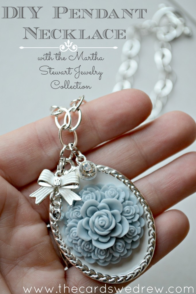 DIY Pendant Necklace with Martha Stewart Jewelry Collection from The Cards We Drew