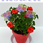 Mother's Day Flower Pot with Embossed Flowers