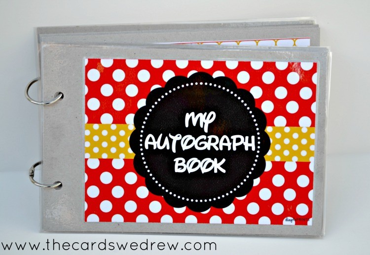 My Disney Autograph Book with Free Downloadable Print from The Cards We Drew and DimplePrints