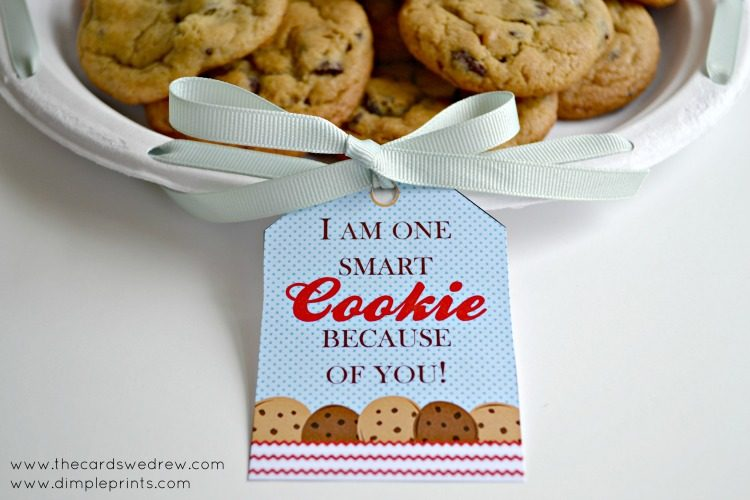 One Smart Cookie Teacher Gift with Free Print from DimplePrints