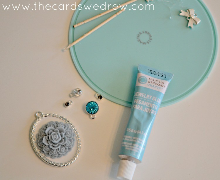 glueing down your jewelry