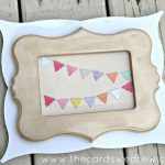 Layered Pennant Frames: DIY Home Decor