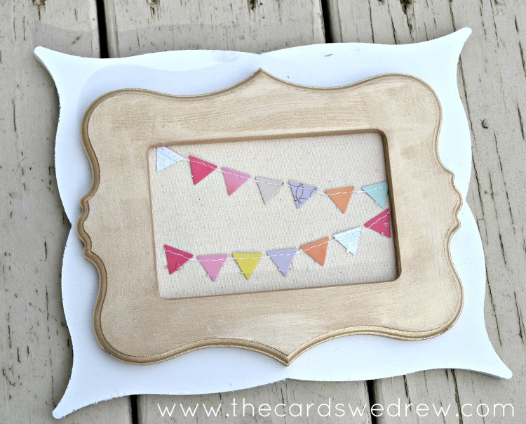 Layered Pennant Frames: DIY Home Decor - The Cards We Drew