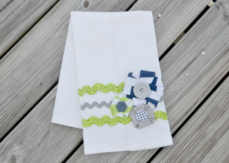 riley blake fabric rosette hand towel