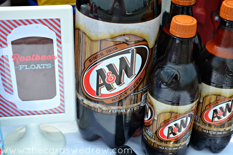 A and W Rootbeer Floats