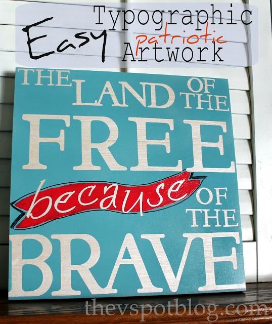 Easy, Patriotic Typographic Art