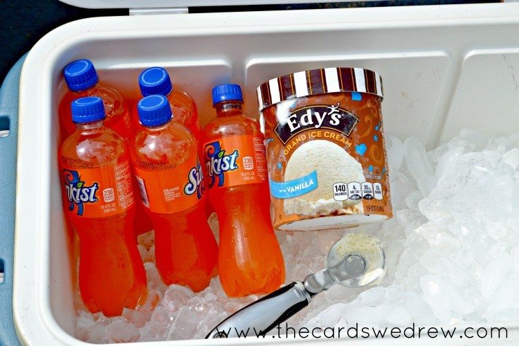 Edy's Grand Ice Cream with Sunkist Soda