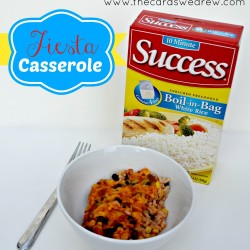 Fiesta Casserole Dinner Recipe with Success Rice