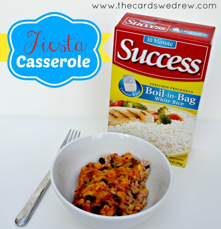 Fiesta Casserole with Success Rice and The Cards We Drew
