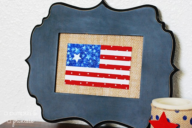 Framed-American-Flag-Decor