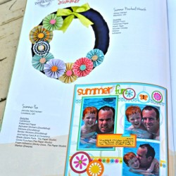 Pinwheel Wreath Feature in Hobby Lobby Magazine
