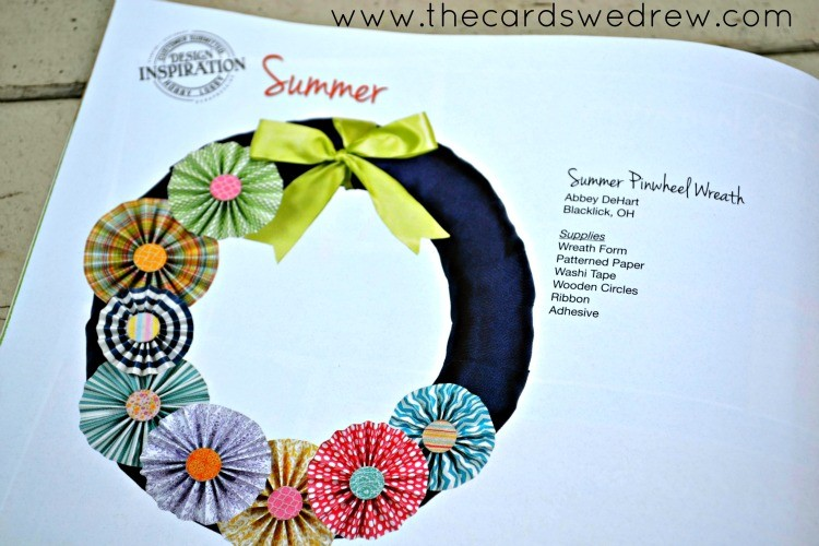 Summer Pinwheel Wreath magazine feature on page 8