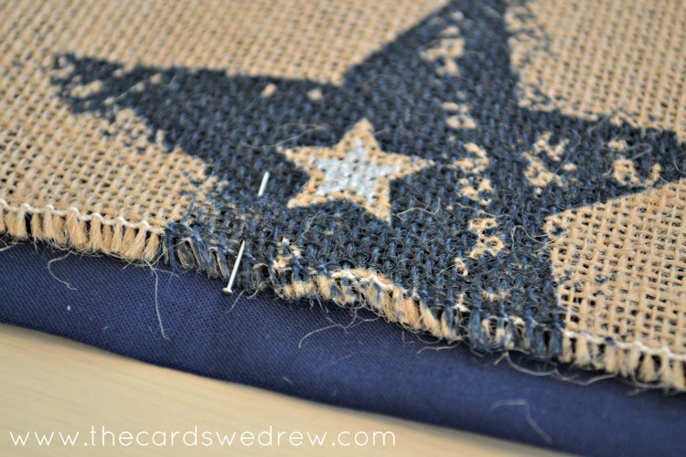 add burlap fabric to runner