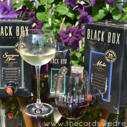 black box wines and glasses