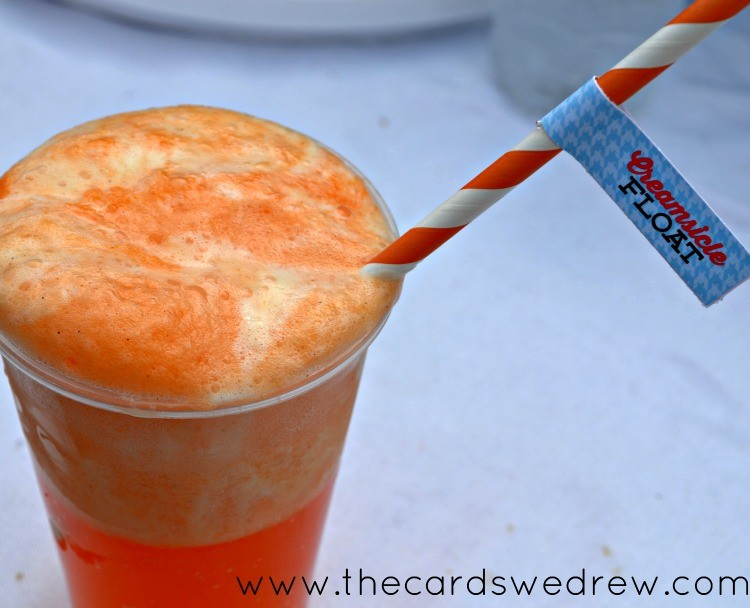 creamsicle float with sunkist orange soda