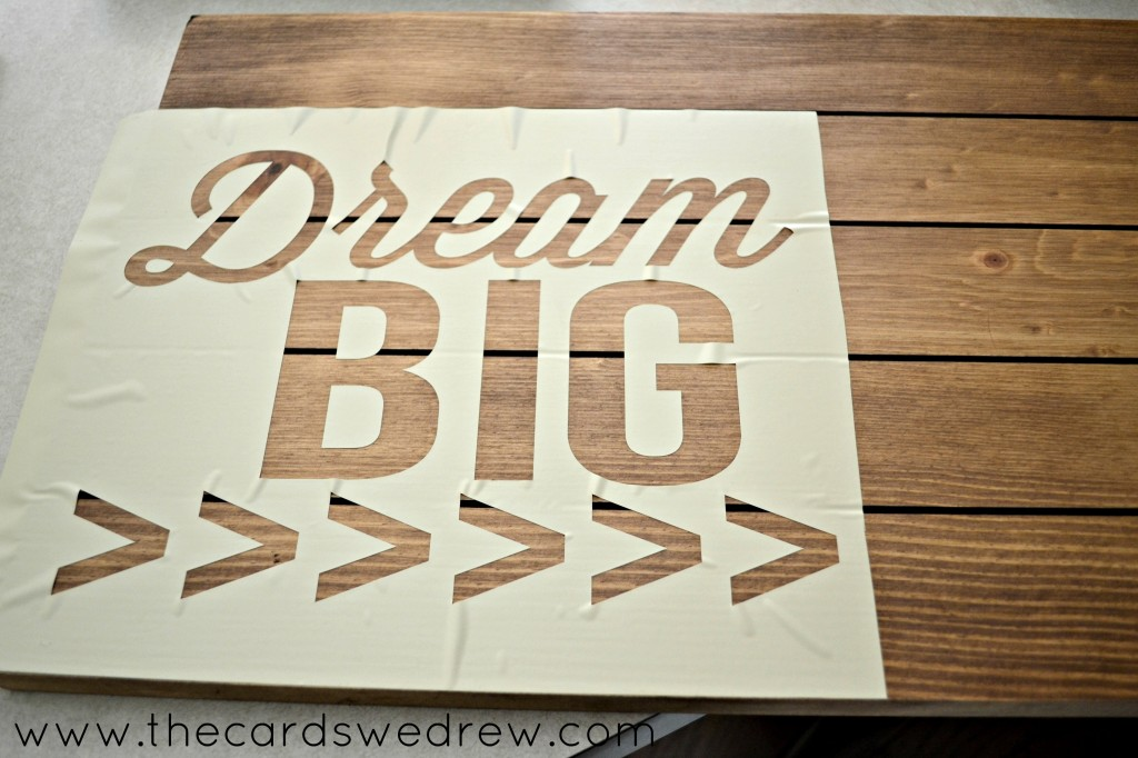 dream big stenciling