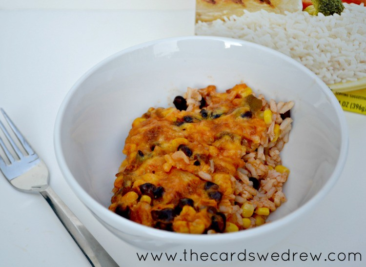fiesta casserole from The Cards We Drew with Success Rice