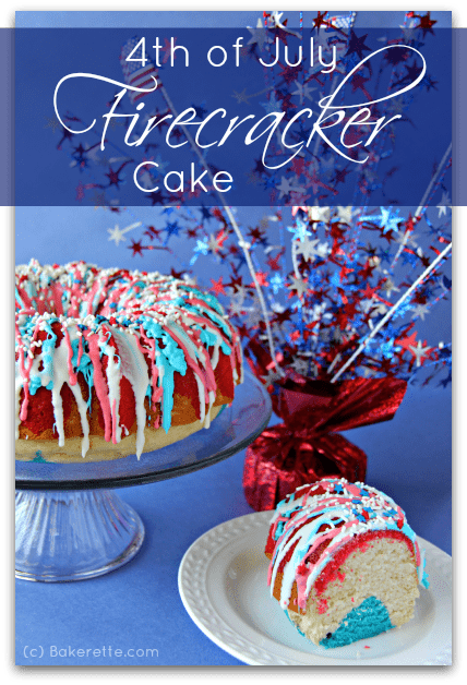 fourth of july firecracker cake
