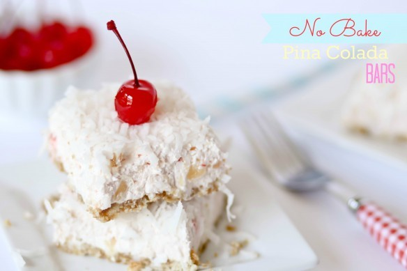 no bake pina colada bars