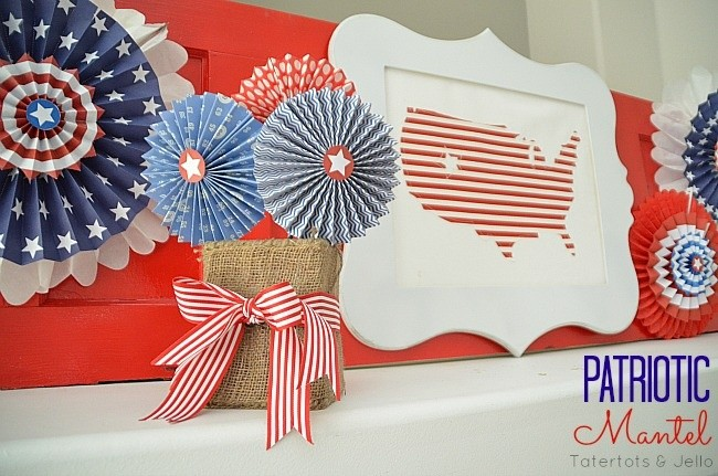 patriotic mantel from tatertots and jello