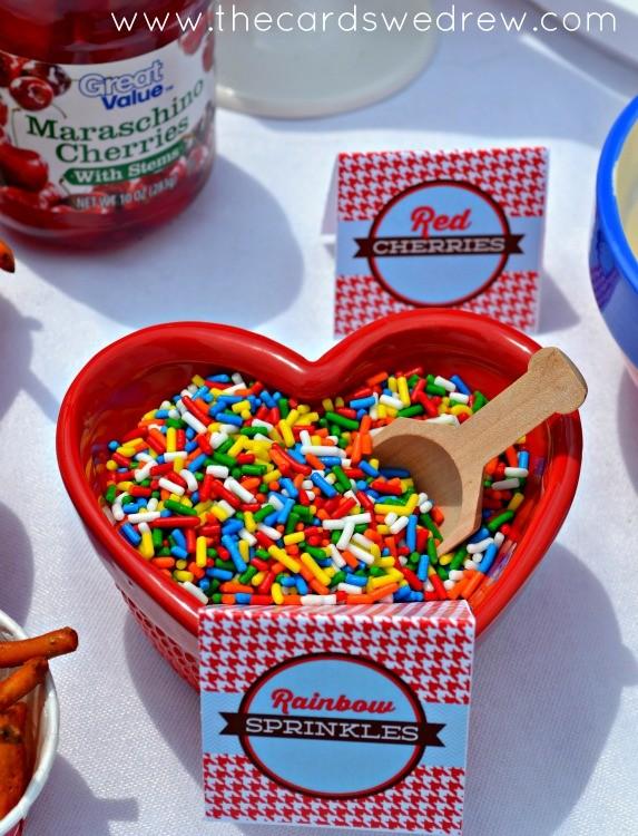 rainbow sprinkle toppings