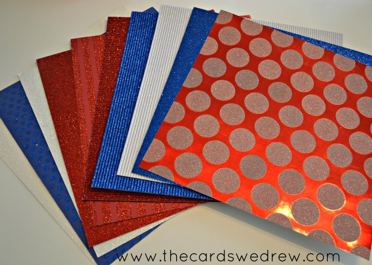 red white and blue scrapbook paper