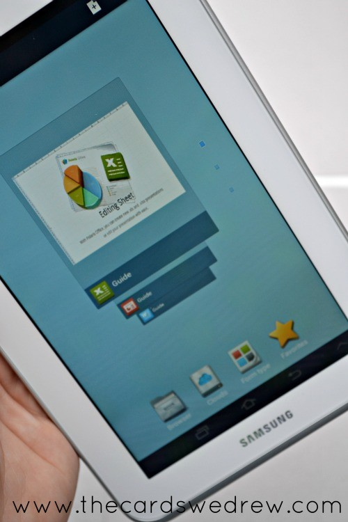 samsung tablet with office