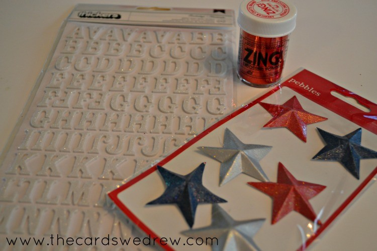 stars and sticky letters
