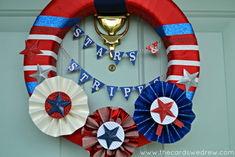 stars and stripes wreath from the cards we drew