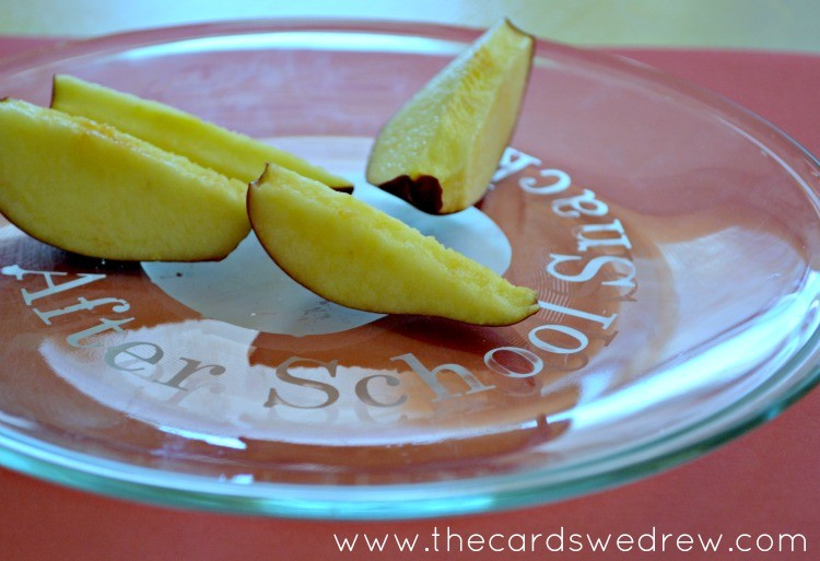 After School Snack Etched Glass Plate