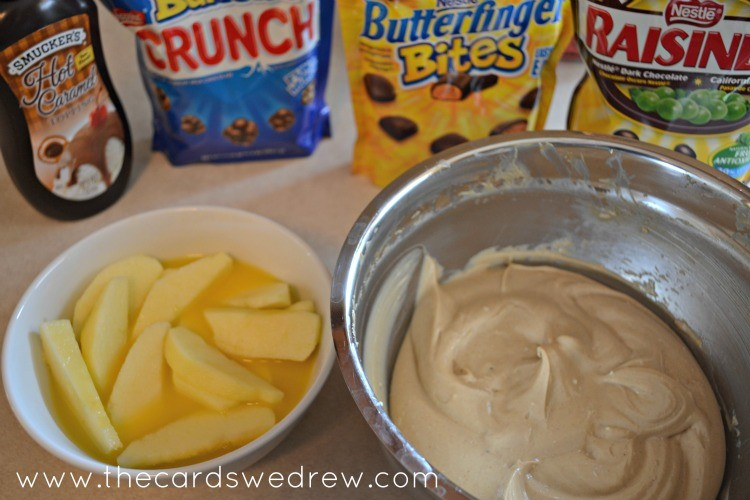 apple nachos with dip #shop