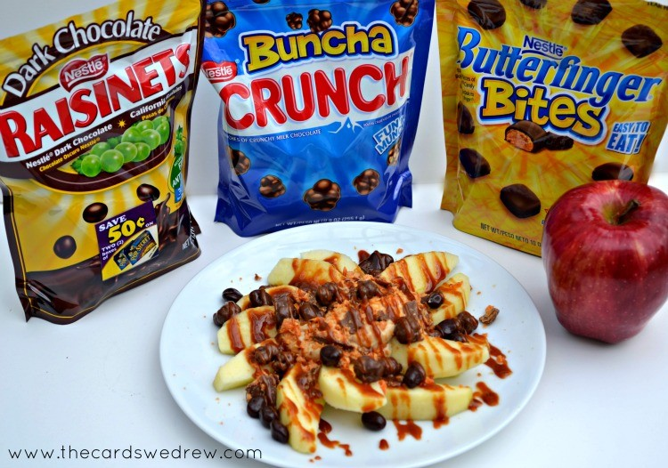 back to school after school snack with apple nachos and nestle candy #shop