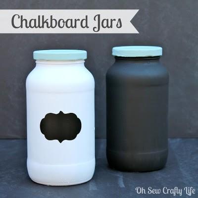 chalkboard jars