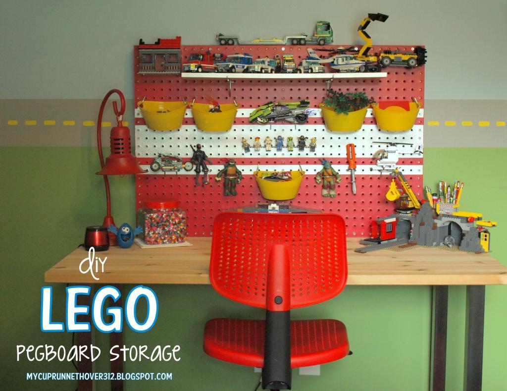 lego storage pegboard