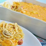 Cheesy Chicken Spaghetti with Velveeta