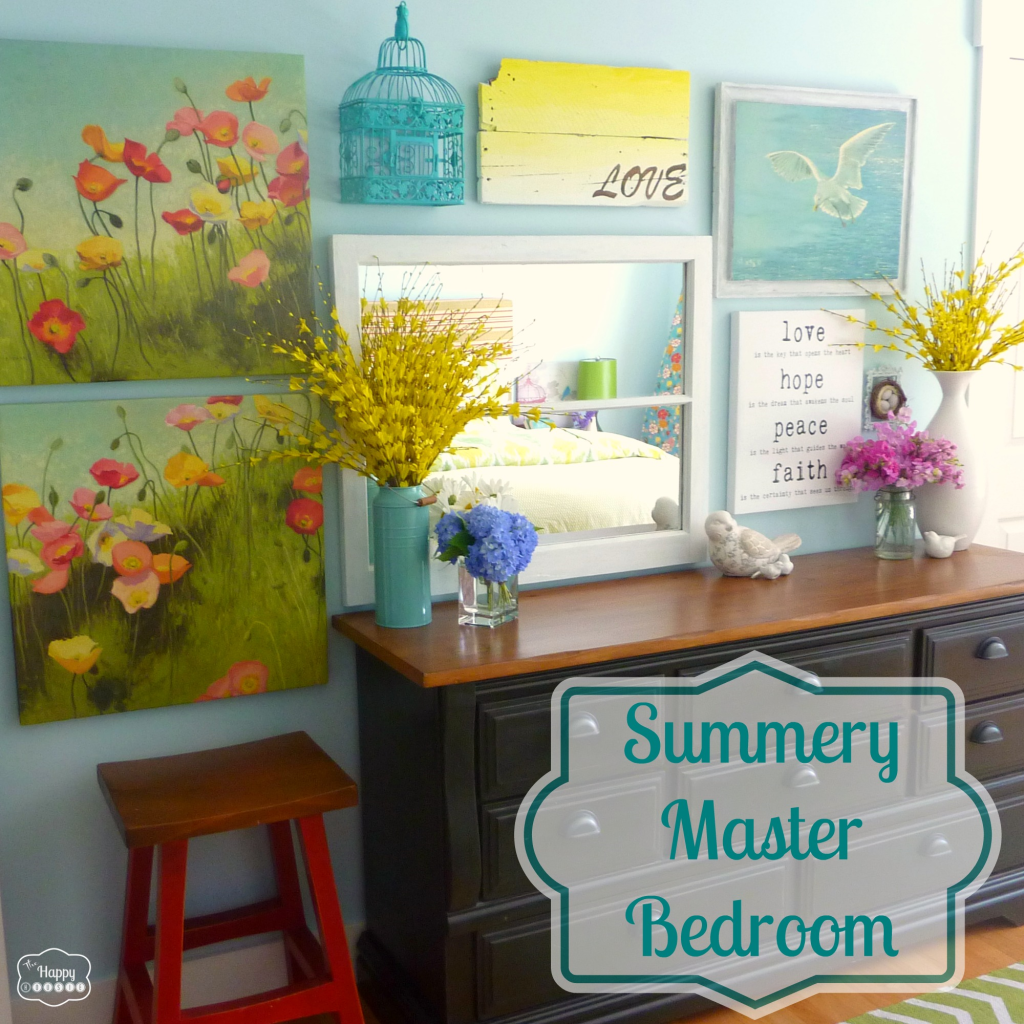 summer-master-bedroom-gallery-wall-new-bedding-at-thehappyhousie-1024x1024