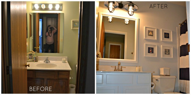 Before and After Bathroom front shot