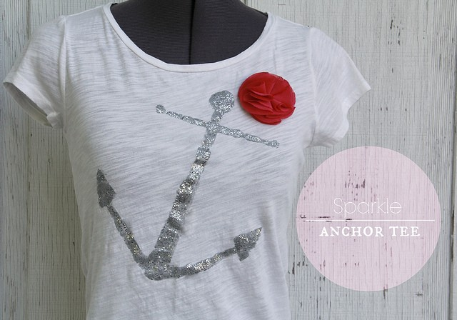 DIY Sparkle Anchor Tee