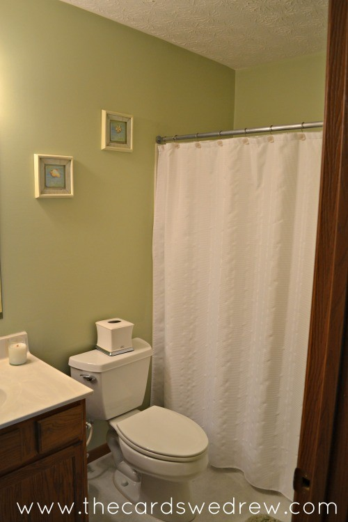 before green bathroom