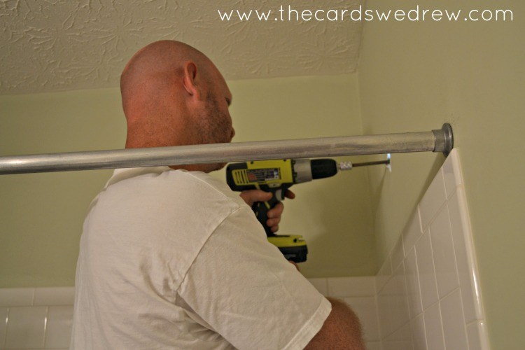 installing shower head with Ryobi drill